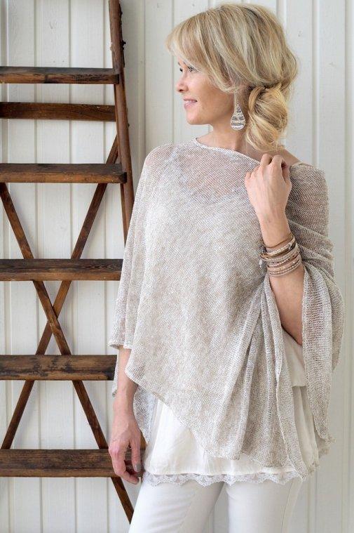 knitted-leinen-Poncho-bypias-beige-melange